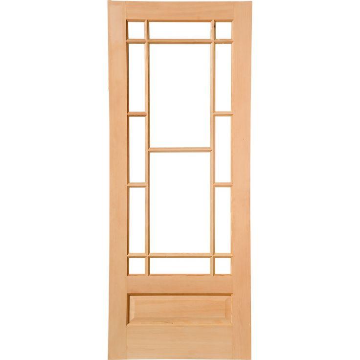 Grattan Vestibule 82cm Door, Raw Hemlock/Clear G
