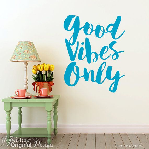 Inspirational Decal Good Vibes Only | Wall Sticker | Vinyl Wall Decal Quote  | Wall Sticker