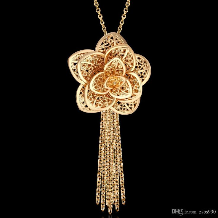 2015 new design beautiful flower pendant 18K gold plated jewelry fashion classic wedding gift for woman Top quality free shipping. (http://www.dhgate.com/store/product/2015-new-design-beautiful-flower-pendant/236458906.html)