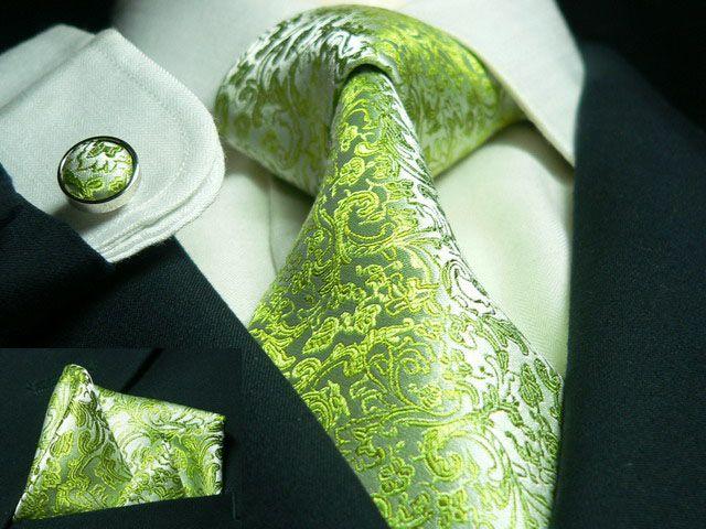 green tie, paisley