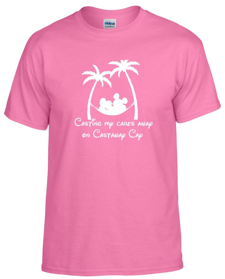 Disney cruise inspired Casting My Cares Away on Castaway Cay Carribean Bahamas tshirt by JusTeezin on Etsy