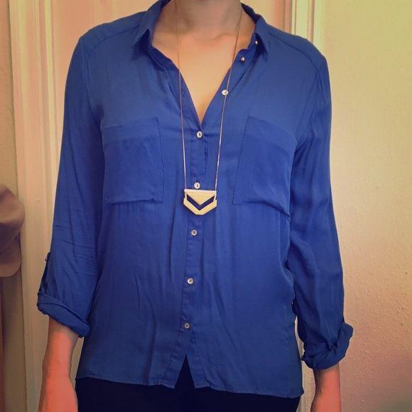 Zara Cobalt Blue Blouse 116