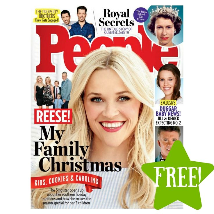 FREE People Magazine Subscription - http://www.couponsforyourfamily.com/free-people-magazine-subscription/