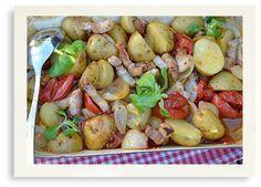 Speklapjes ovenschotel met aardappeltjes
