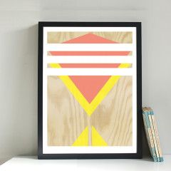 GICLEE PRINT - PLYWOOD WHITE STRIPES | Warehouse Home | Trend | Interior Design
