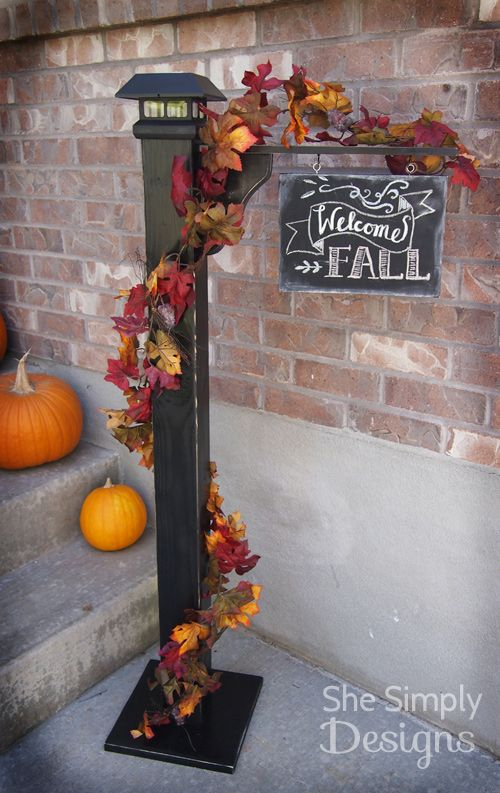 Porch Sign Post | She Simply Designs