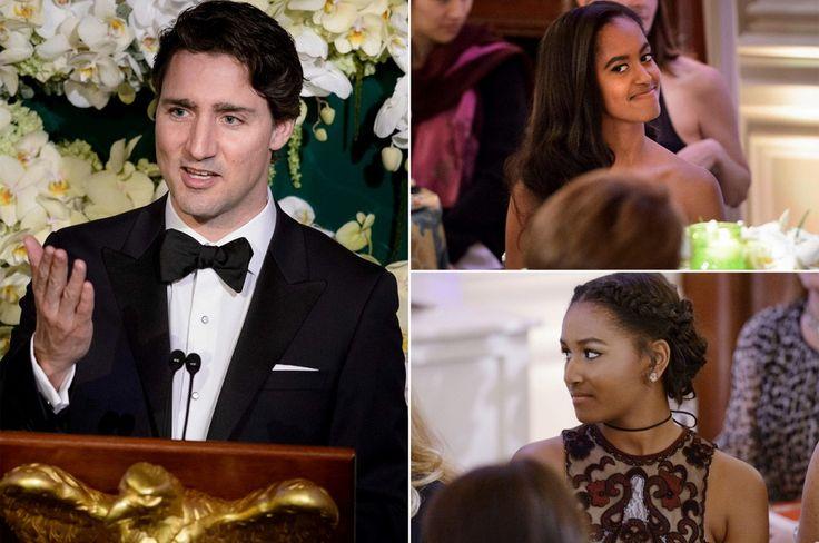 nice Las hijas de Obama asisten a su primera fiesta de estado