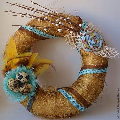 Подарки на Пасху ручной работы. Ярмарка Мастеров - ручная работа Венок пасхальный. Handmade.