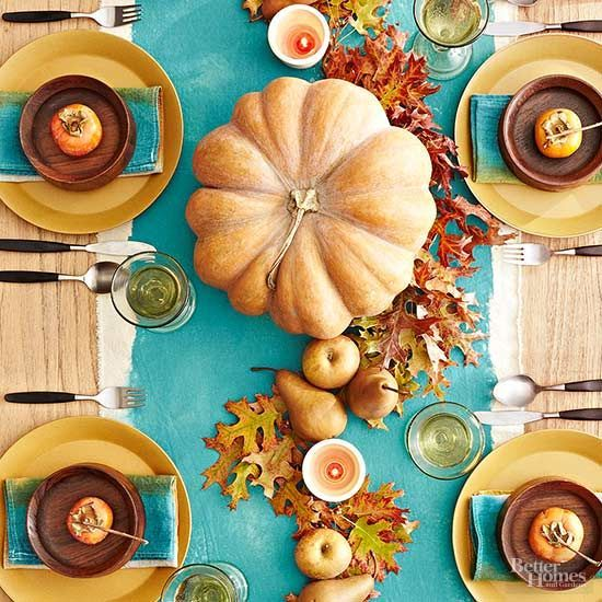 This Thanksgiving fruit centerpiece doesn't require any complex assembly.