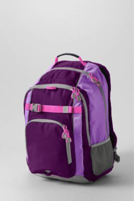 School Uniform Solid ClassMate Large Backpack from Lands' End
