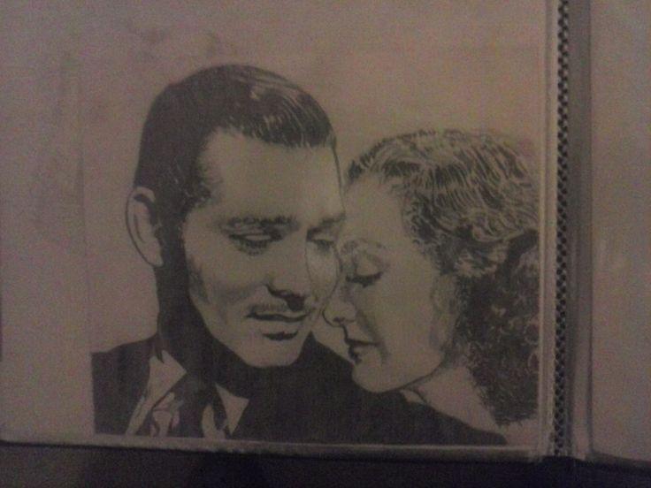Clark Gable And Joan Crawford Artist : Jackie Bateman
