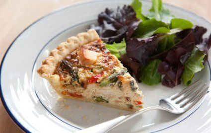 Turkey and Roasted Asparagus Quiche.