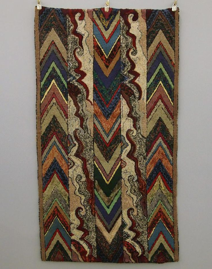 Early hooked rug