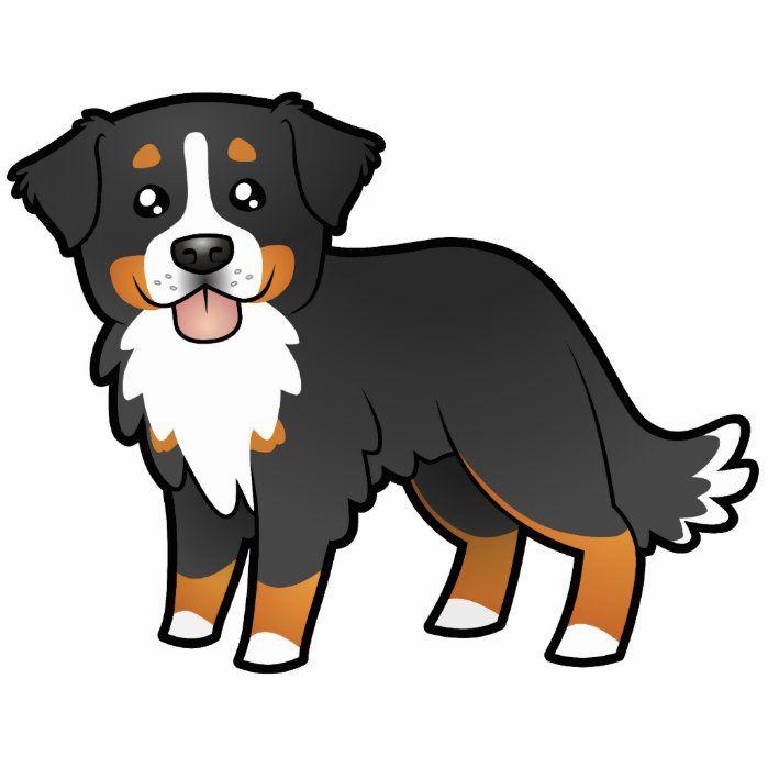 Cartoon Bernese Mountain Dog Cutout Zazzle Com Cartoon Dog Dog Sketch Dog Drawing