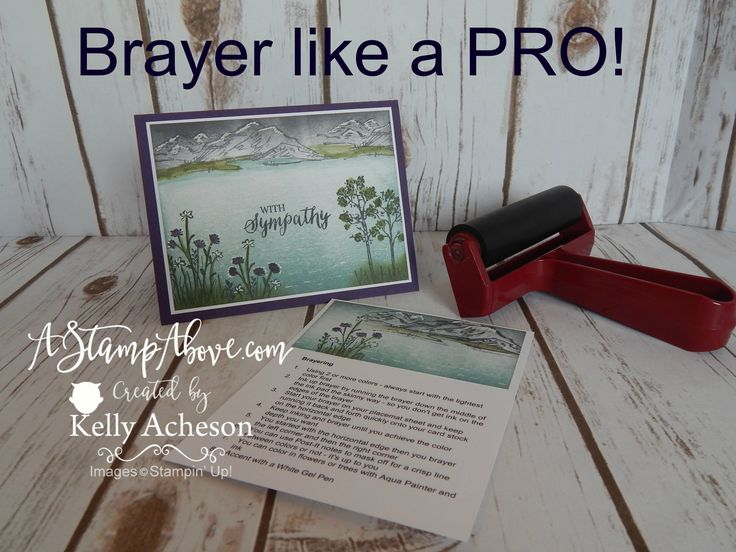 Making a card that looks like you're an artist is easy with a brayer. IN THE MEADOW is a perfect stamp set for scenery. Dust off those brayers and give it a ...