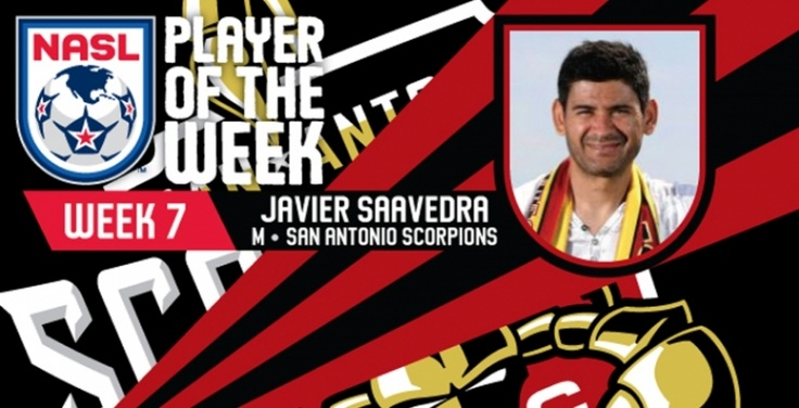 Javier Saavedra Named NASL Player of the Week