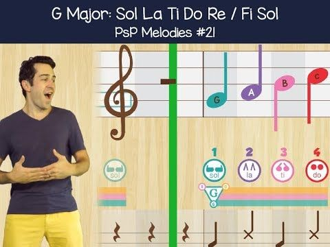 PsP Melodies #21   G Major 6 Note Exercise We're celebrating Music in Our Schools Month with new free episodes of PsP Melodies Season 2! New episodes up every #MusicMonday through March and April on YouTube and the Prodigies Blog. Happy #MIOSM