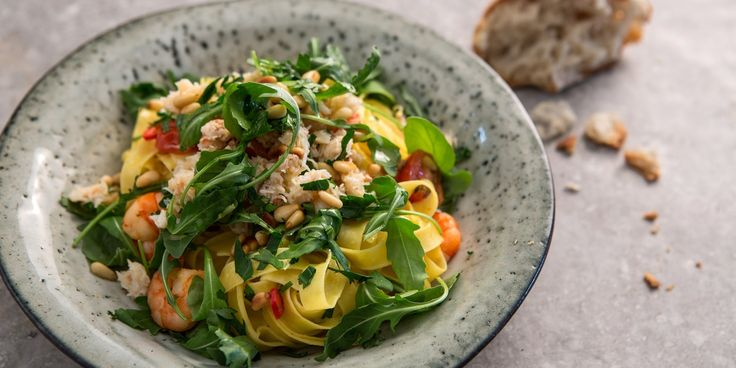 Bright and vibrant, yet quick and easy, chef Paul Ainsworth's simple fettuccine recipe boasts juicy prawns and delicate crabmeat.