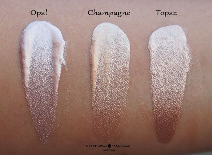 Faces Ultime Pro Metaliglow Review & Swatches: Opal, Champagne, Topaz