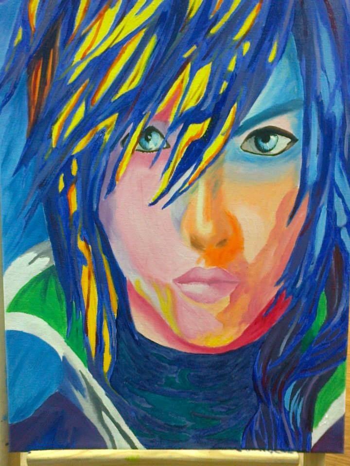 Pintura hecha por mi cambiando los colores originales. Personaje: Lightning, FFXIII