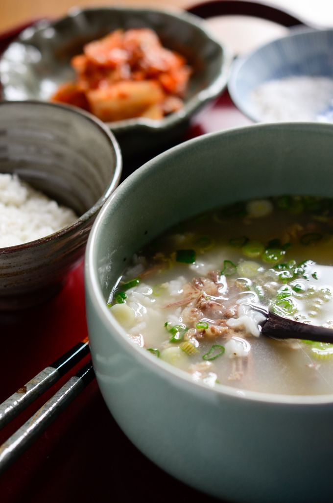 Korean style ox tail bone marrow soup. All you need is water to make but it takes a whole day of simmering.
