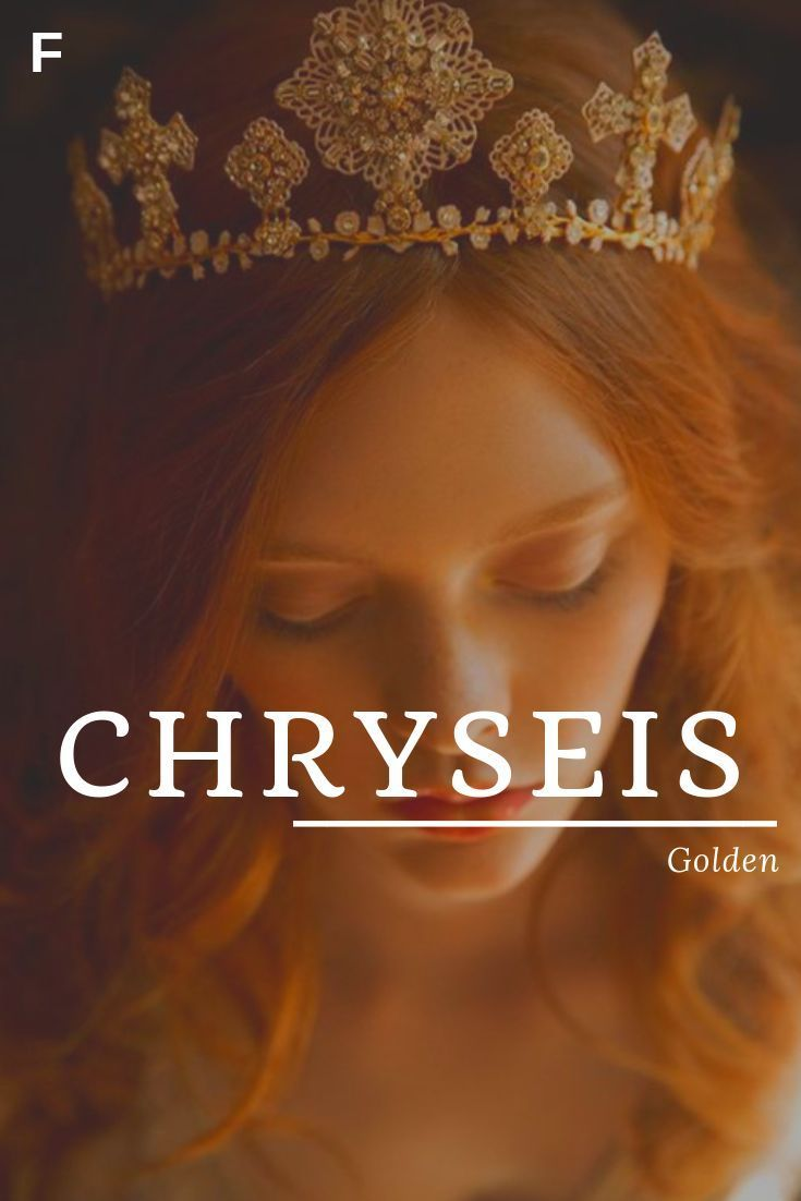 Chryseis bedeutet goldene griechische Namen C Babynamen C Babynamen weibliche Namen   – ~names~