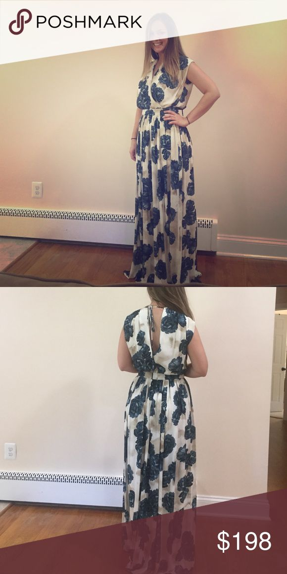 Gorgeous fall floral Maxi gown Perfect floral gown for a fall or winter wedding! Anthropologie Dresses Wedding