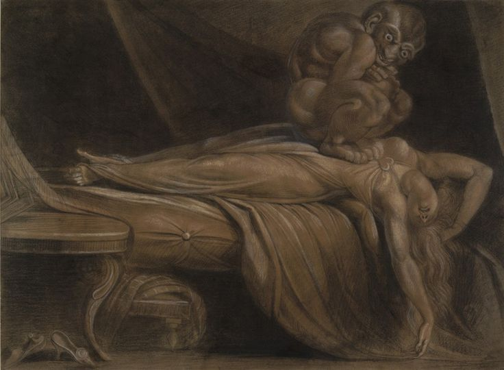 a visual analysis of the night mare by john henry fuseli Henry fuseli fascinated by the the supernatural, henry fuseli's paintings were dramatic illustrations of otherworldly creatures fuseli was also known for his masterful manipulation of light and shadow, masterfully adding emotions to his scenes.