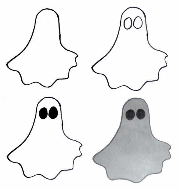 Halloween Drawing Ideas How To Draw Halloween Ghost Bat Witch