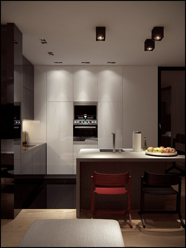 Modern Dining Room with Kitchen Cabinet