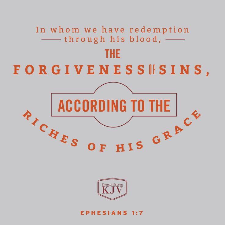 KJV Verse of the Day: Ephesians 1:7