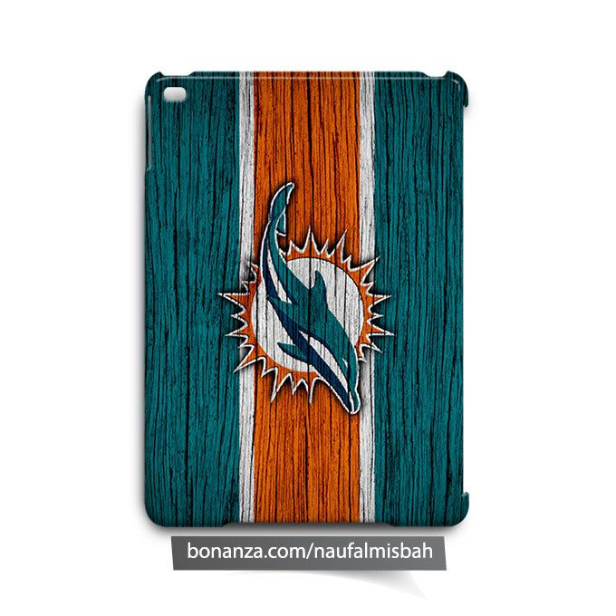Miami Dolphins on Wood iPad Air Mini 2 3 4 Case Cover