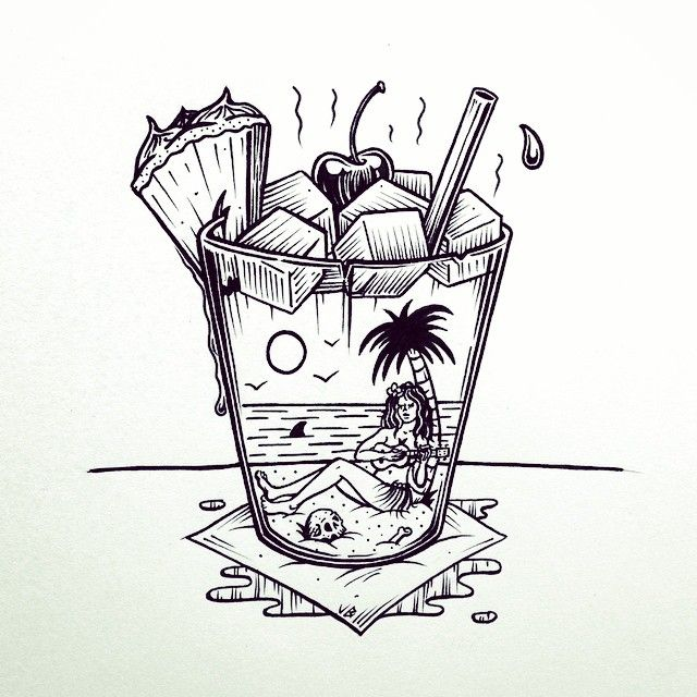 It's Mai Tai to shine! by Jamie Browne jamiebrowneart.com