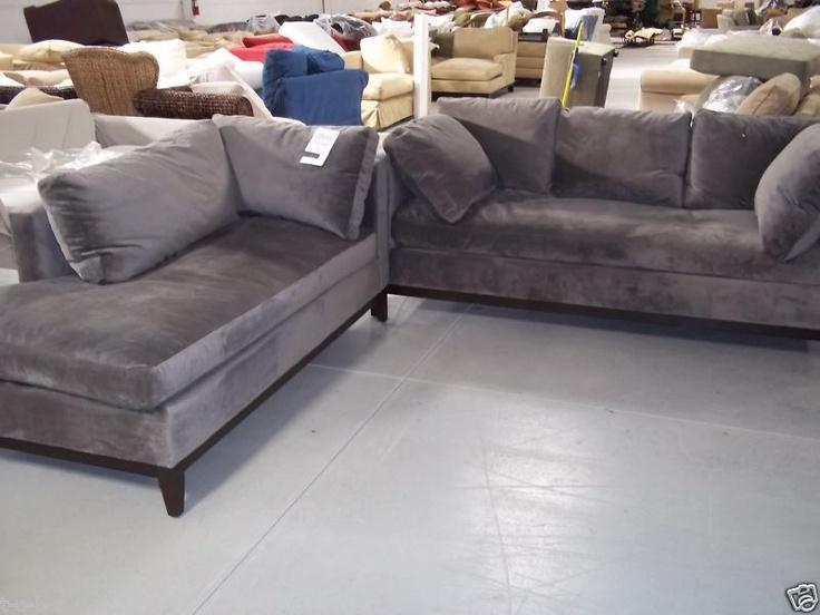 otter velvet sofa color