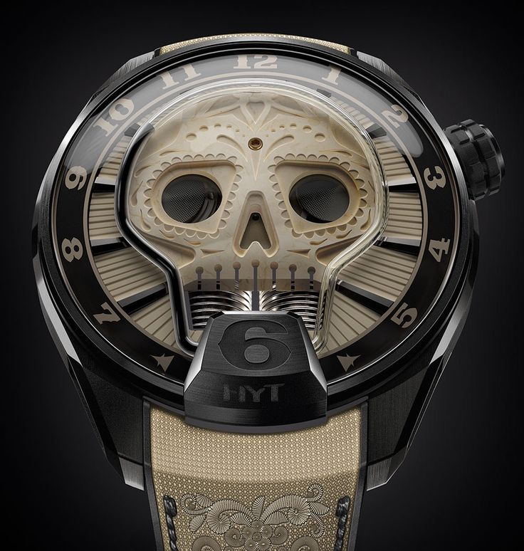 HYT releases the Skull Vida Watch. The skull is handcrafted out of ivory obtained from a Siberian woolly mammoth, which gives the dial its creamy hue. http://www.ablogtowatch.com/hyt-skull-vida-watch/ ♢ Read about it on aBlogtoWatch.com