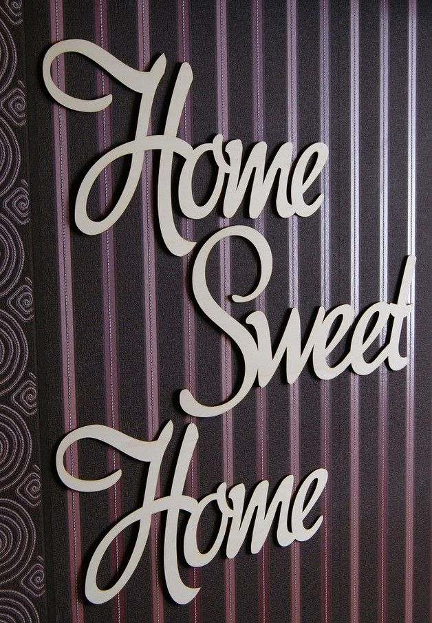 XXL Home Sweet Home Selbstklebend Schriftzug Holz