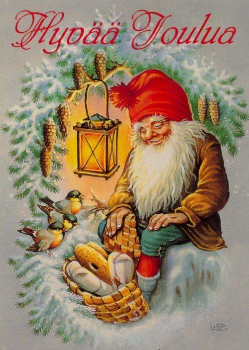 Открытка, картинки с рождеством финским