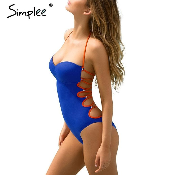 Padded sexy one piece swimsuit beach Bandage swimwear women sport suit – Bestseller Outlets