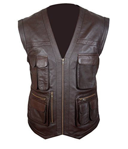 Mega Shop | F&H Men's Jurassic World Chris Pratt Owen Grady Genuine Leather Vest