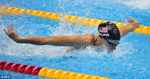 Dana Vollmer setting the WR in the women's 100m butterfly