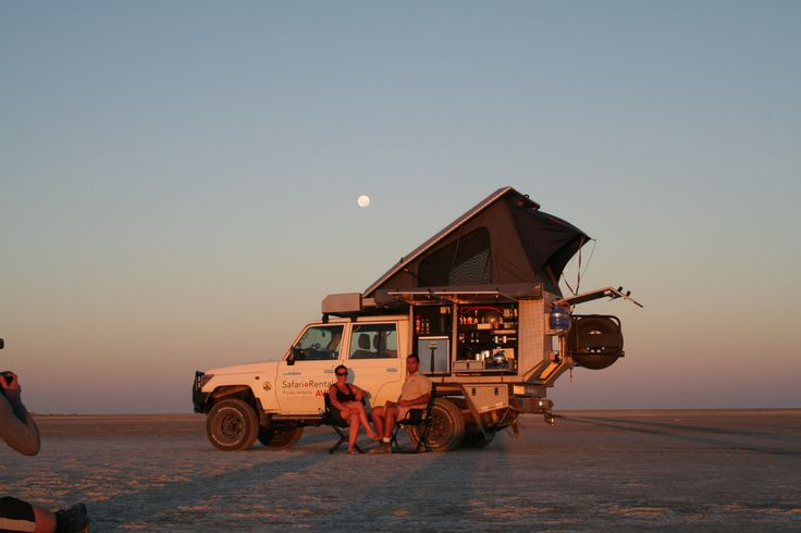 Time for a drink and watch the African sunset - Alu-Cab, Botswana