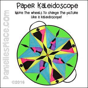 Paper Kaleidoscope Craft For Kids Children Turn The Wheel To Change