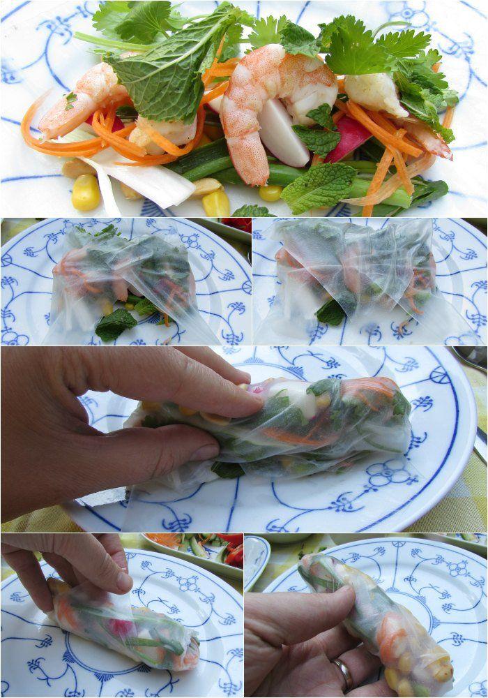 LeesVoer collage how to vietnamese salade loempias