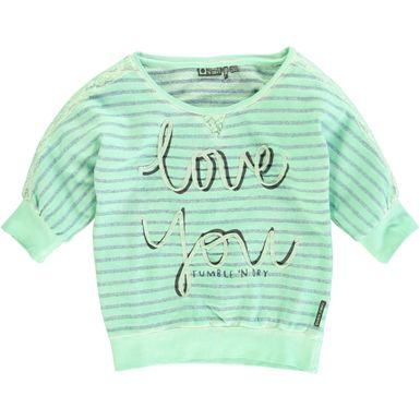 Tumble 'n Dry - girls hi striped sweater
