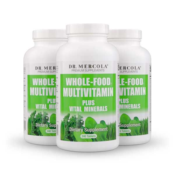 Whole Food Multivitamin PLUS (240 per bottle): 90 Day Supply