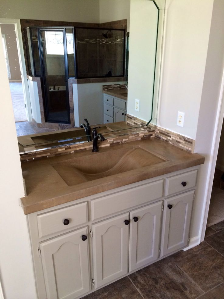 Concrete Vanity With Wave Sink Concrete Countertops Pinterest Sinks Vanities And Waves