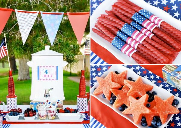 This 4th of July party looks like a blast4Th Ideas, July Parties, Food And Drink, Blue Parties, Fourth Of July, Cute Ideas, 4Th Of July, July 4Th, Parties Ideas