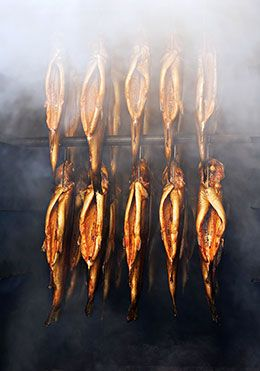 Smoked trout - don't leave in brine longer than recommended. Then 2 hours in smoker and 25 min in 300° oven.