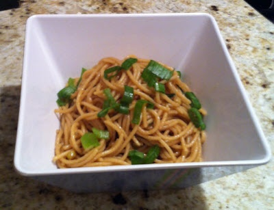 Garlic Scallion Sesame Noodles | Doughmestic Diva | Pinterest