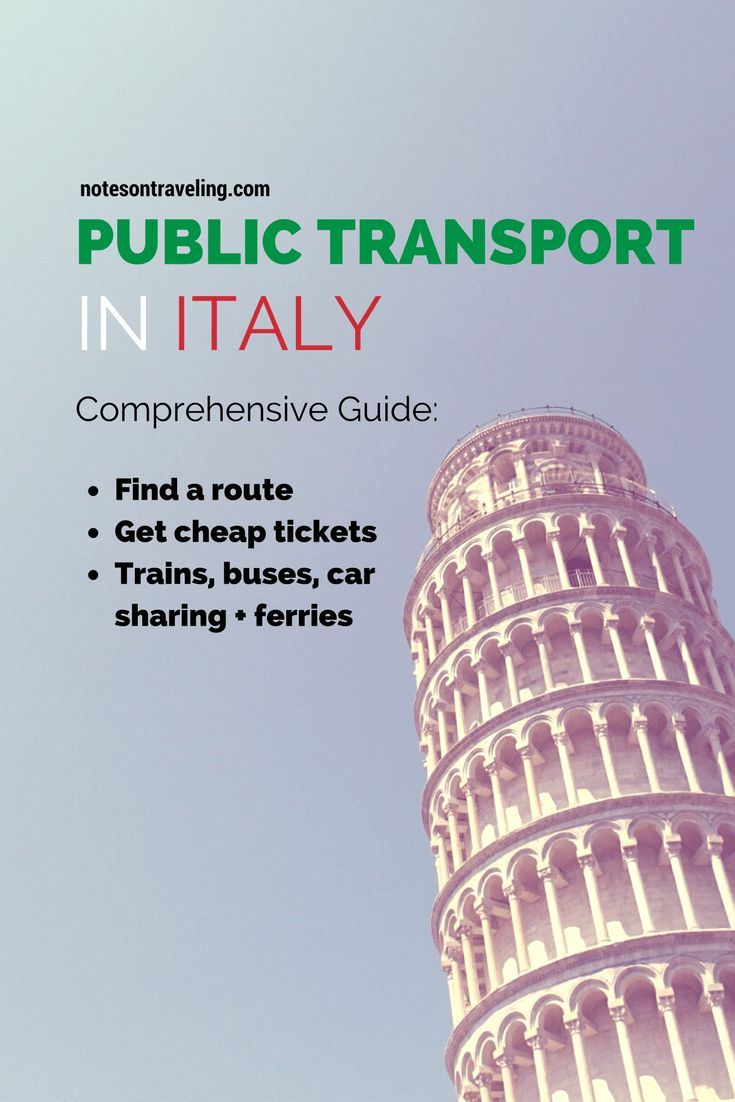 Everything you need to know to easily and cheaply navigate Italy on public  transport. Details